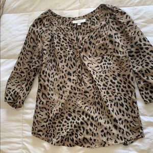 Loft Animal Print Blouse